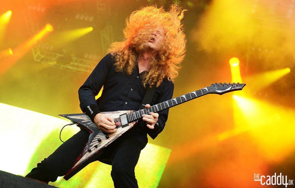 Dave-Mustaine playing Dean VMNT