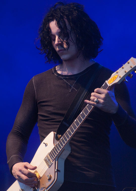 Jack White and his Gretsch G6199 Billy-Bo Jupiter Thunderbird Guitar