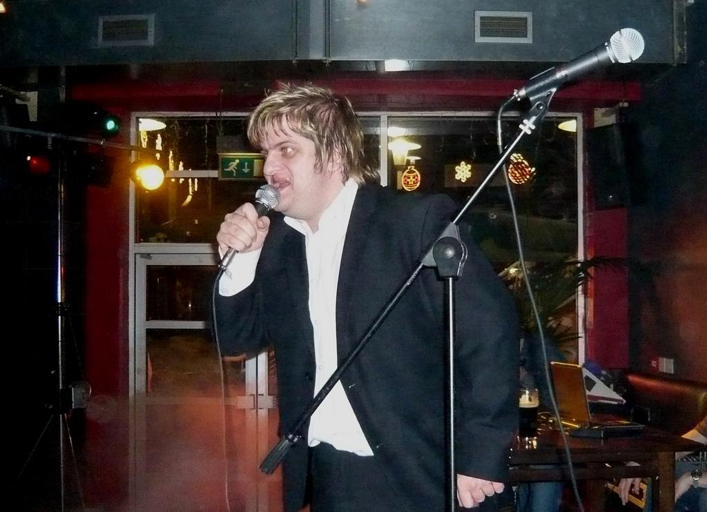 drunk karaoke singer